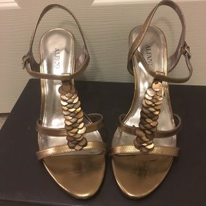 Shoes - Bronze Shimmery Sandals